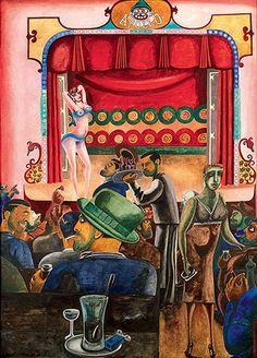 Striptease (Harlem) (1934) by Edward Burra (British 1905-1976) Estate of Edward Burra