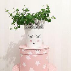 painted Ikea Skurar vase