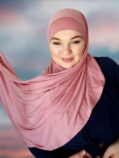 Comfortable user friendly hijabs worh undercaps no pins needed instant hijab shawl Hard Working Women, Working Woman, Instant Hijab, Medical Scrubs, Put On, Shawl, Chiffon, Take That, Photoshoot