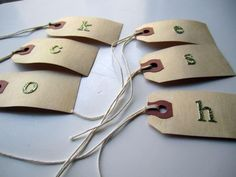 DIY Wine glass markers: DIY Party Drink Tags