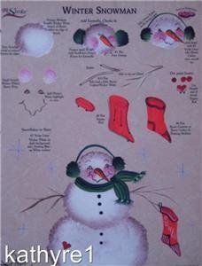 donna dewberry RTG Winter Snowman Worksheet One Stroke