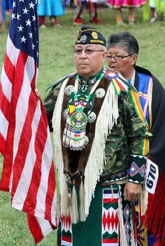Black River Falls Pow Wow Labor Day 2010 by hauserjim70, via Flickr~ Many proud veterans at pow wows, always honored.