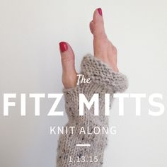 fitz mitts wrist warmers knit along and free knitting pattern!