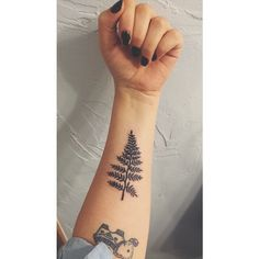Fern leaf tattoo