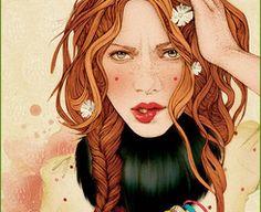 mercedes debellard | Mercedes deBellard肖像插画