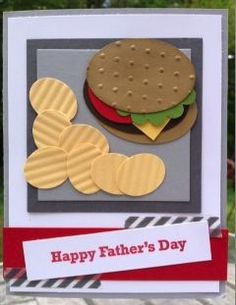 Hamburger | Fathers Day Cards for Kids to Make | DIY Birthday Cards for Men