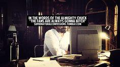 Chuck said it and it's true