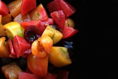 This tomato & cherry salad looks amazing. Can't wait to try it!