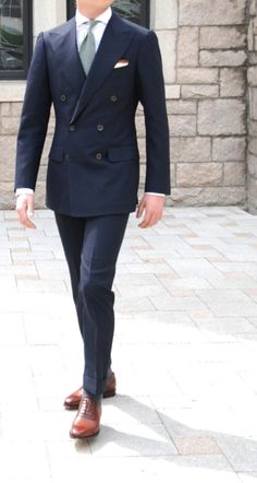navy blue double breasted suit jacket blazer | Trajes | Pinterest ...