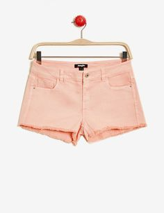 short à bords francs rose clair