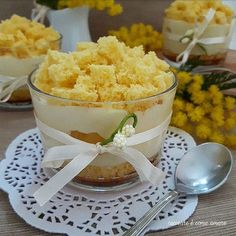 Dessert mimosa al cucchiaio | Cucinare è come amare