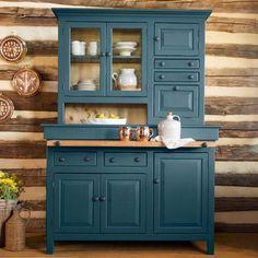 Hoosier Cabinet – Shaker Blue - Diy Home Dekor Pine Furniture, Kitchen Furniture, Furniture Makeover, Furniture Nyc, Furniture Websites, Furniture Movers, Furniture Companies, Plywood Cabinets, Built In Cabinets