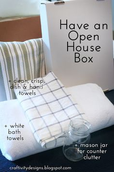 Have an open house box ready to go to freshen up listings...
