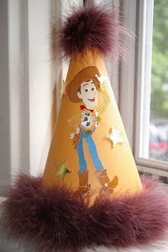"Items similar to Boy Birthday Hat - Toy Story ""Woody"", Table Topper, Birthday Party on Etsy 1st Birthday Hats, Cowgirl Birthday, Toy Story Birthday, First Birthday Parties, First Birthdays, Birthday Ideas, Woody Party, Cowboy Party, Toy Story Party"