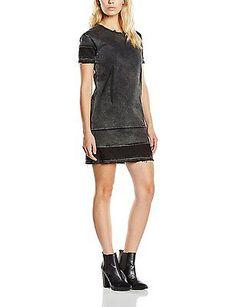 Medium, Lord Black, Cheap Monday Women's Take T-Shirt Short Sleeve Dress NEW