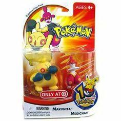 10th Anniversary Pokemon Makuhita Medicham by Hasbro. $4.35. Includes Makuhita & Medicham Figure Set. Name: Pokemon Toy Mini Figure SetManufacturer: HasbroReleased Date: September 2006Description: Arm thrust attack!. Save 51%!