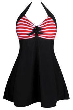 Plus Size 3XL One-piece Swimwear sexy beach wear Girls Swim dress with bottom bikinis Womens Swimsuit Bathing suits LC41923