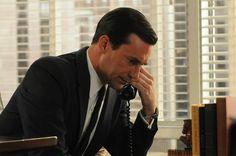 "Don Draper (Jon Hamm) in season six of ""Mad Men."" The final episodes of the popular series began Sunday."