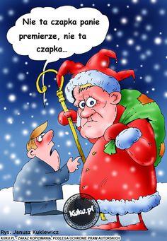 Nie ta czapka panie premierze. (źródło: http://kuku.pl)