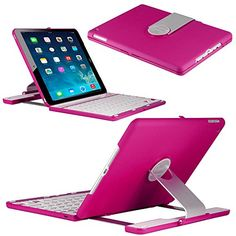 CoverBot iPad Air 2 Keyboard Case Station Hot Pink Bluetooth Keyboard For iPad Air 2. Folio Style Cover with 360 Degree Rotating Viewing Stand Feature CoverBot http://www.amazon.com/dp/B00Q3VWQI4/ref=cm_sw_r_pi_dp_nkVOub15GSKNB