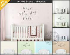 Nursery Styled Interior White Crib Scene 16 by TanyDiArtDesign