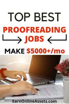 Online Earning, Make Money Online, How To Make Money, Best Online Jobs, Job Work, Proofreader, Home Jobs, Money From Home, Extra Money