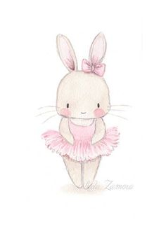 Unique and Creative Nursery Artwork BUNNY BALLERINA Artwork Print for ladies, Nursery ballerina artwork, Ballerinas print, Child Bunny Nursery, Nursery Wall Art, Girl Nursery, Animal Drawings, Cute Drawings, Drawing Animals, Ballerina Kunst, Ballerina Nursery, Baby Ballerina