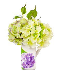 Loving this Lavender & Green Hydrangea Pitcher on #zulily! #zulilyfinds
