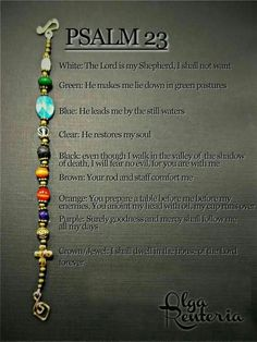 Psalm 23 bracelet with meaning of it: