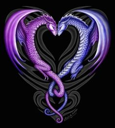 Two dragons entwined.