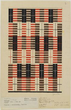 Anni Albers, Design for a Wall Hanging , 1926