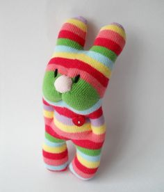 bunny mini hug sock creature sock animal by TreacherCreatures