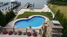 Vinyl Pool, Pool Houses, Swimming Pools, Homes, Water, Outdoor Decor, Home Decor, Swiming Pool, Gripe Water