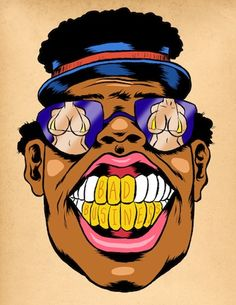 Let's get down to Bad Bizness with Master P on Mike Shea's B Reel! Badass Drawings, Music Drawings, Art Drawings, Graffiti Drawing, Graffiti Art, Cartoon Painting, Cartoon Art, Canvas Wall Art Quotes, Old School Tattoo Designs
