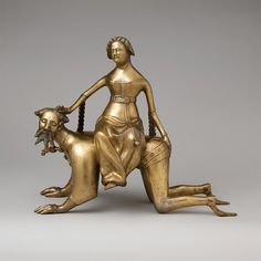 """rachelmalin: """"Aquamanile in the Form of Aristotle and Phyllis late 14th or early 15th century """""""