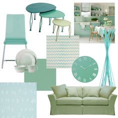 Colors: mint green/blue