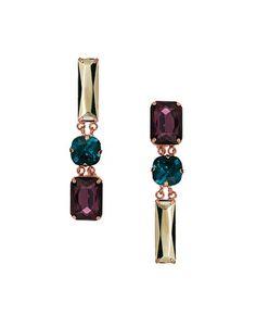 @asos.com mirrored jewel drop earrings