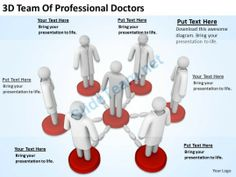3D Team of Professional Doctors Ppt Graphics Icons Powerpoint # Powerpoint #Templates #Infographics