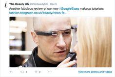 ysl beaute.google glass tweet