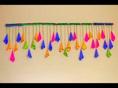 Very easy TORAN hanging for Door – Wall Decor – Home Decor – Door Decor – Paper Cone Crafts – Indian toran – door hanging – wall hanging – window hanging … Door Hanging Decorations, Diy Diwali Decorations, Diy Christmas Decorations For Home, Paper Decorations, Christmas Diy, Paper Wall Hanging, Wall Hanging Crafts, Wall Hangings, Window Hanging