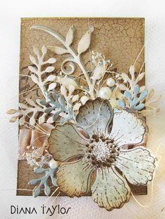 Flower ATC by Velvet Moth Studio (for WOYWW swap)