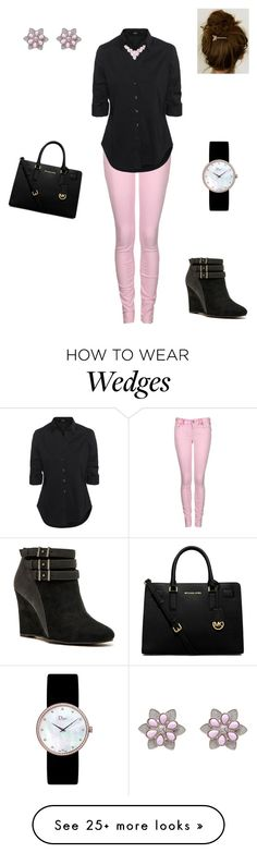 """""""Pink and Black"""" by mouserz-wuz-here on Polyvore featuring Replay, Steffen Schraut, Qupid, Humble Chic, Christian Dior, MICHAEL Michael Kors and Miriam Haskell"""