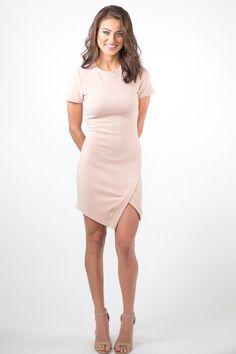 Dev Asymmetrical Dress in Blush