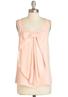 ModCloth | Hello, Bow! Top in Blush #ModCloth #bow #top