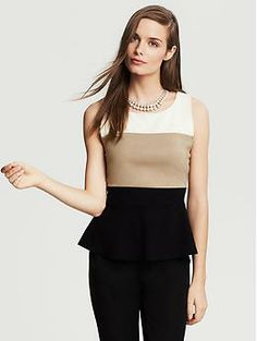 I will always like something that is super classic and classy like this neutral peplum top.