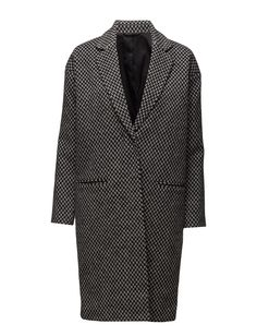 DAY - 2ND Bond Pattern Concealed closure Inner lining Oversized look The garment is made from a luxurious wool blend. Wool creates a breathable and insulating fabric that will keep you warm all winter long. Coat Jacket