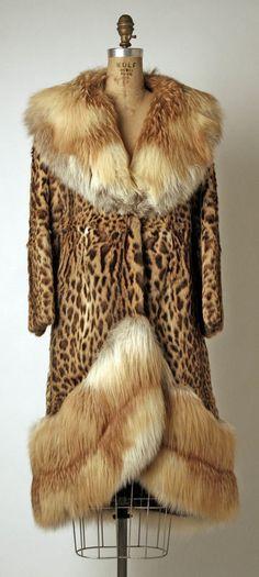 Coat  Date:     1970 Culture:     American Medium:     fur Dimensions:     Length at CB: 49 in. (124.5 cm)
