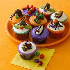 Bug cupcakes.