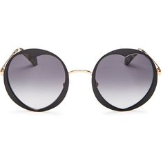 9d1342f9fbf7 kate spade new york Rosaria Round Heart Sunglasses, 53mm (9.585 RUB) ❤ liked