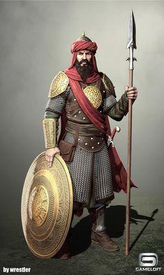 Arab Spearman render, Georgi Georgiev on ArtStation at https://www.artstation.com/artwork/YrWbK